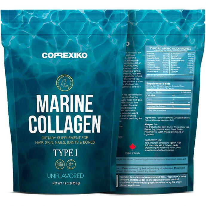 Le collagène marin supérieur de peptides